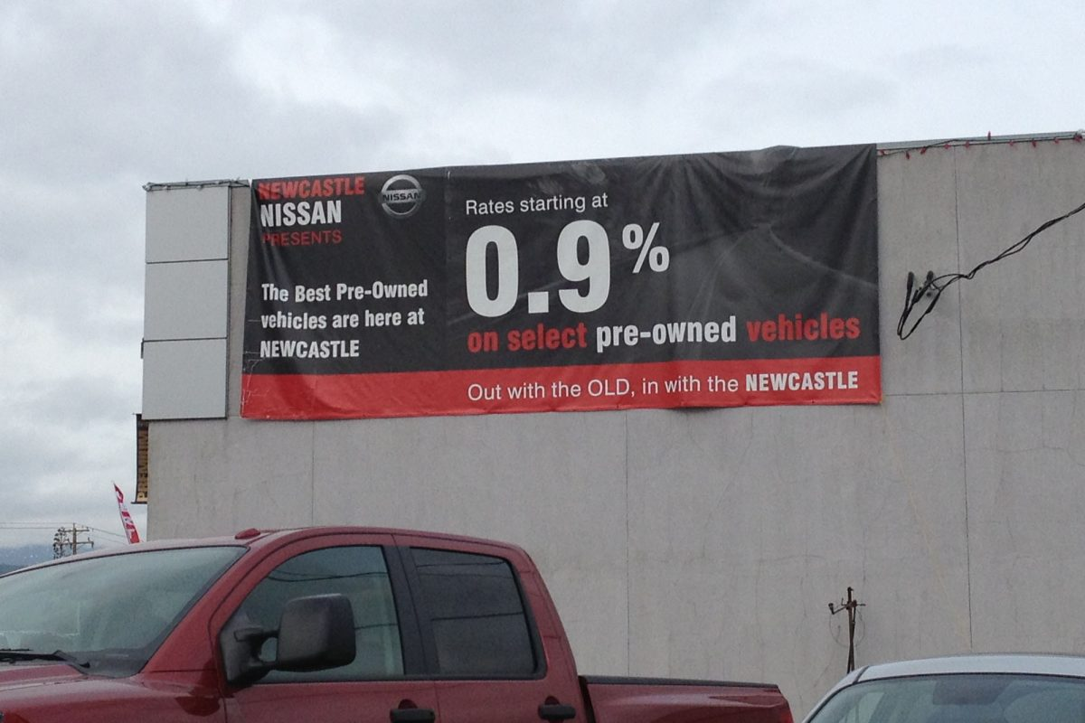 Newcastle Nissan Lease Banner