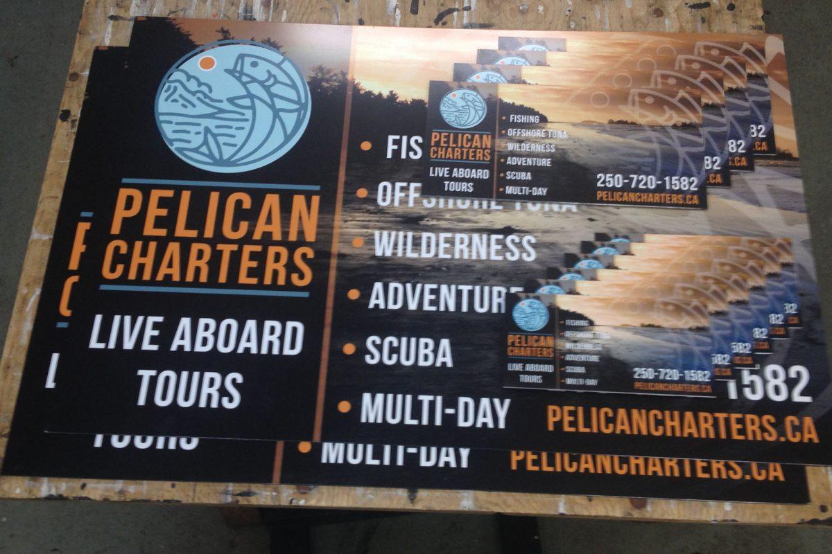 Pelican Charters Coroplast Signs