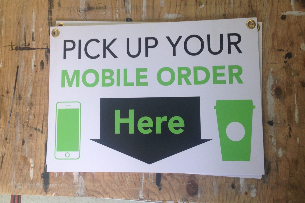 Starbucks Mobile Order Sign
