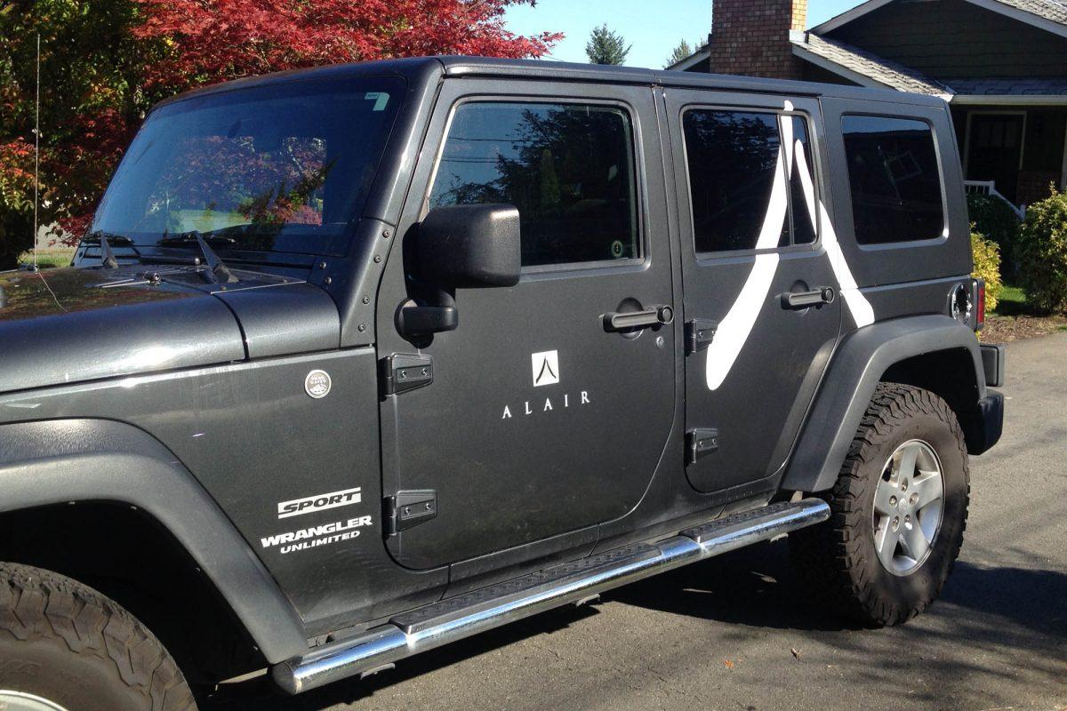 Alair Homes Jeep Vehicle Decals