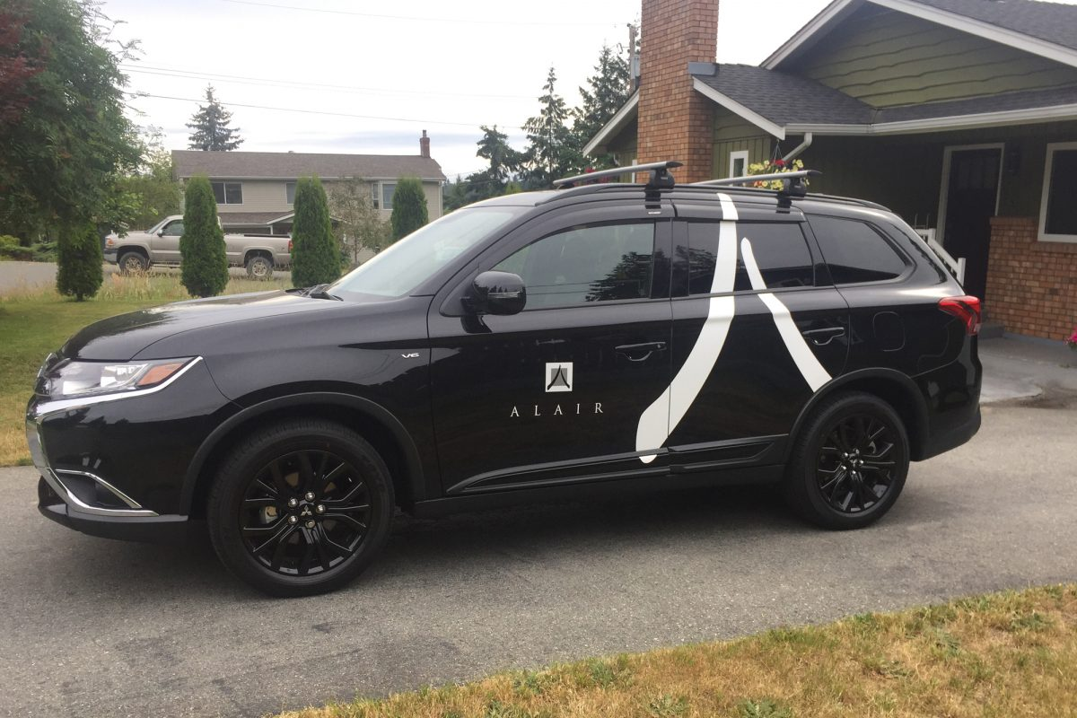 Alair Homes Mitsubishi SUV Vehicle Decals