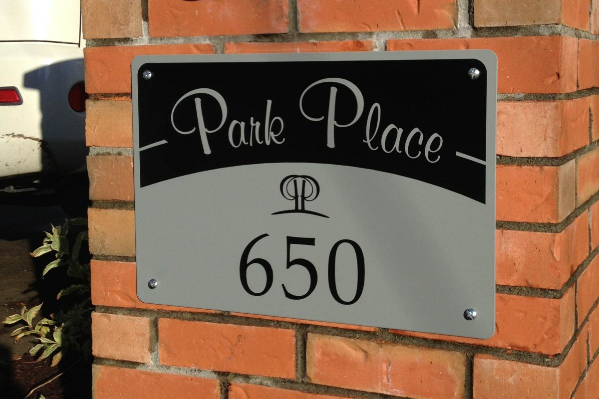 Apartment Solid Aluminium Sign