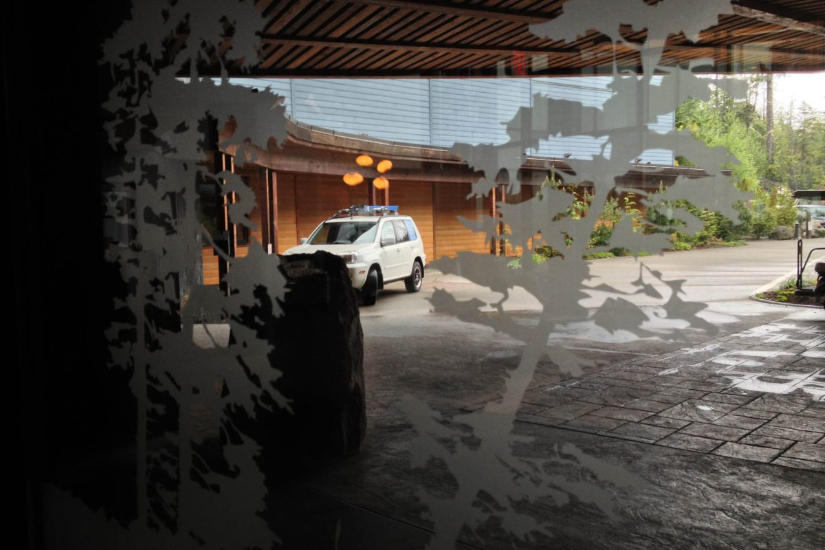 Black Rock Resort Lobby Window Etch Film 5