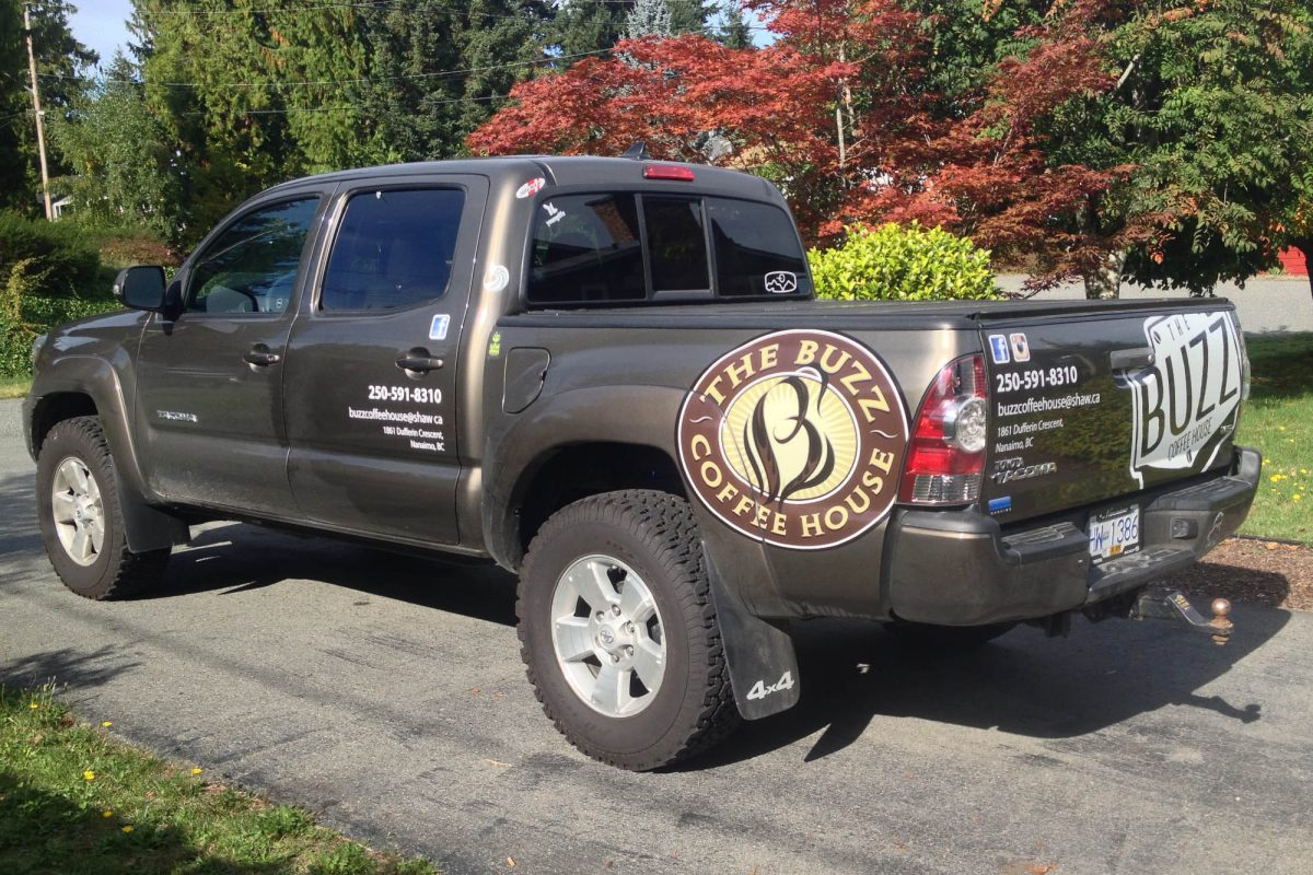 Buzz Coffee Print and Cut Vehicle Decals