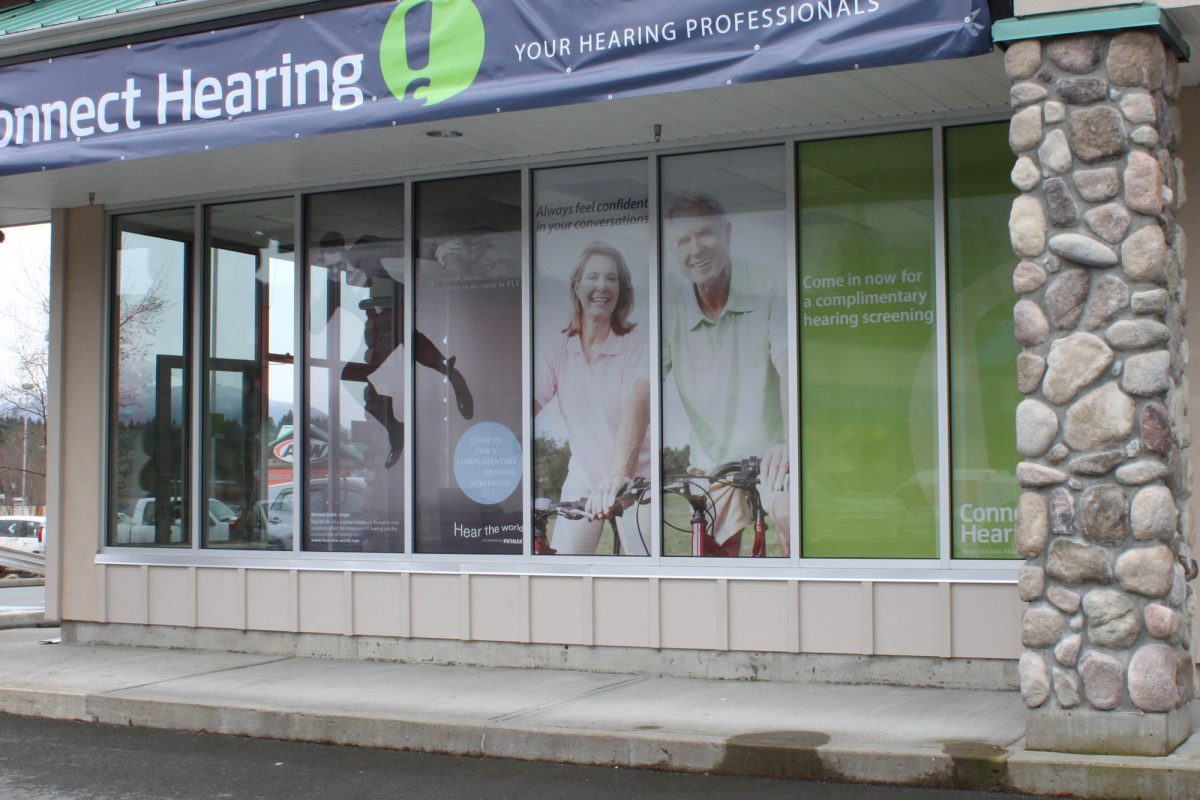 Connect Hearing Port Alberni Perforated Window Film
