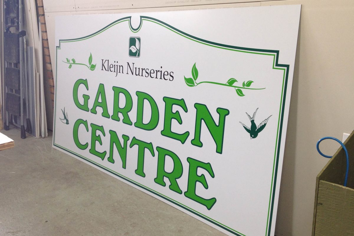 Kleijn Nurseries Aluminium Panel Sign