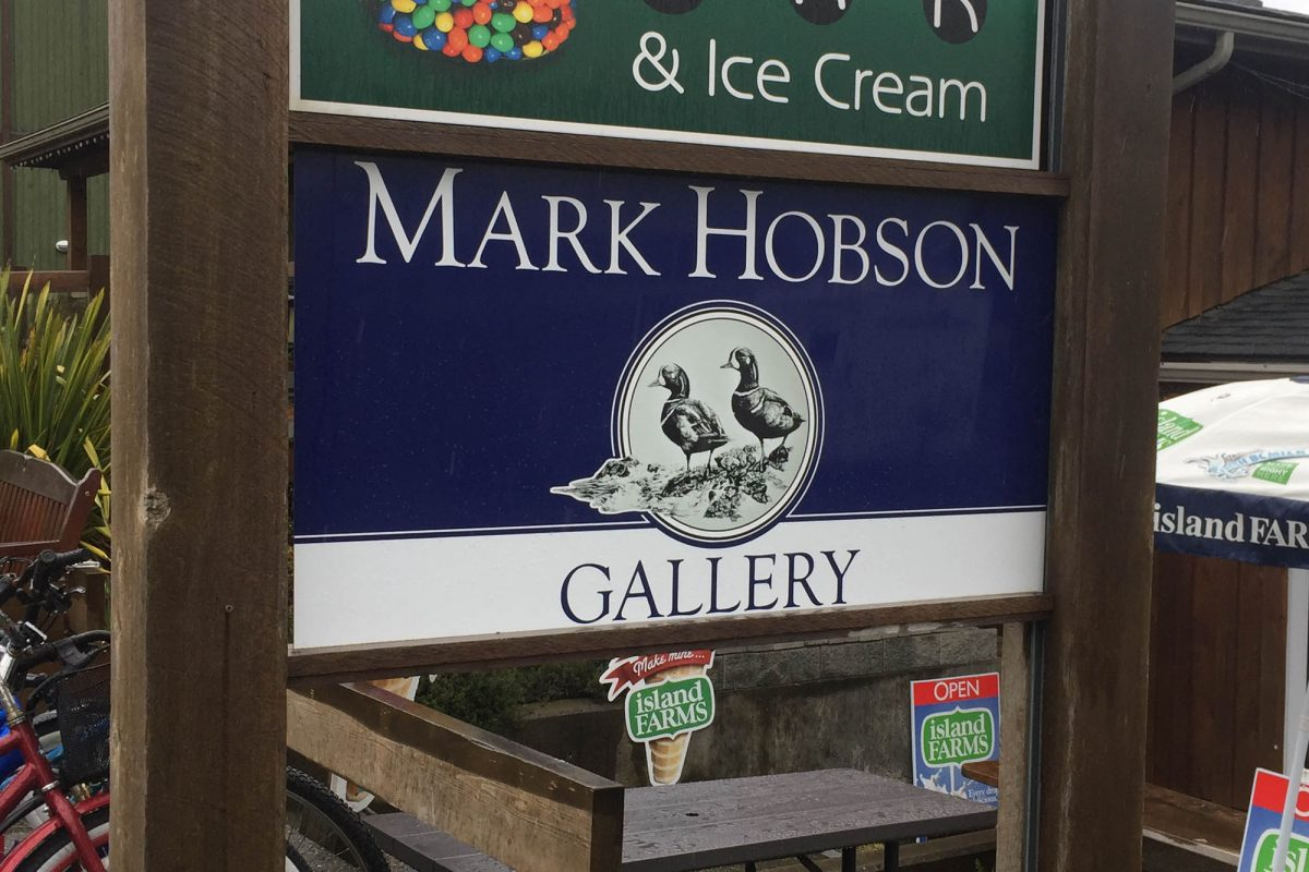 Mark Hobson Aluminium Panel Sign