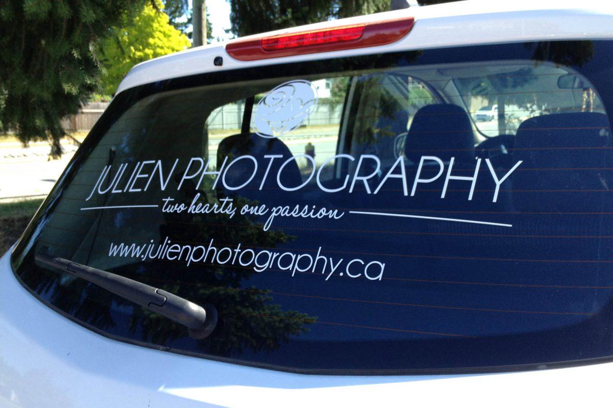 Photographer Cut Vinyl Vehicle Decals