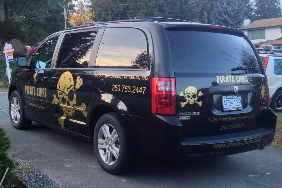 Pirate Chips Cut Vinyl Vehicle Decals