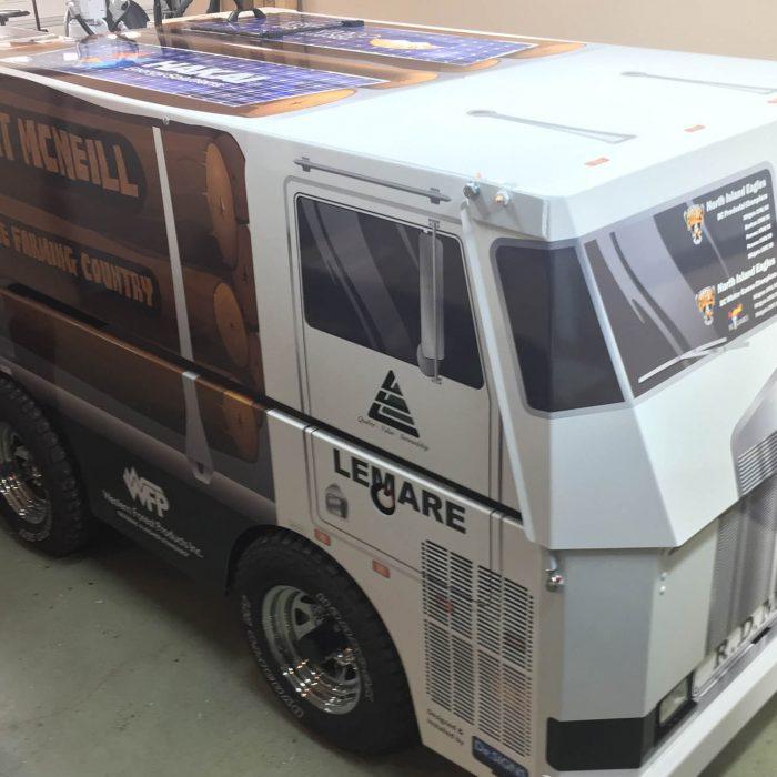 Port McNiell Zamboni Vehicle Wrap 4