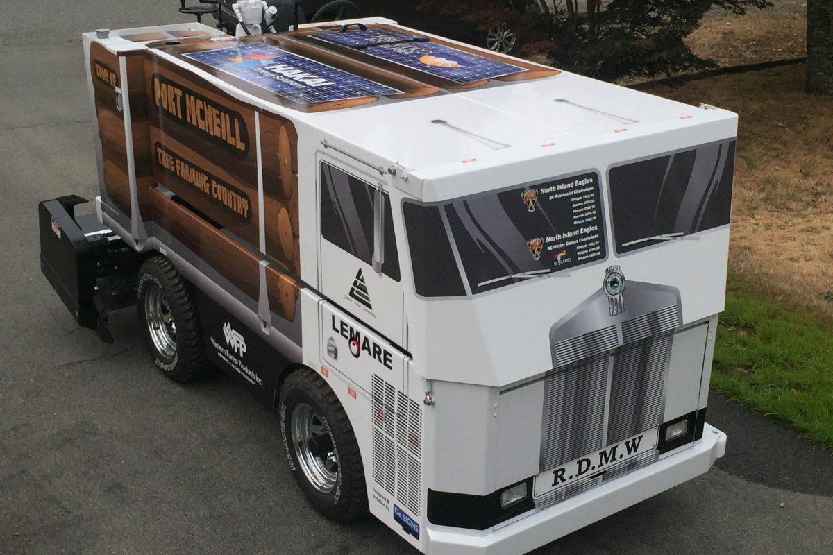 Port McNiell Zamboni Vehicle Wrap 5