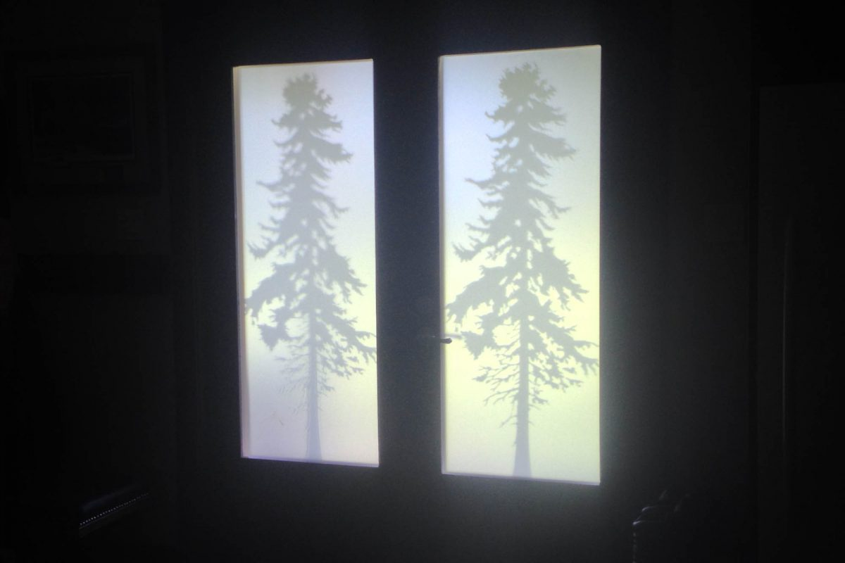 Residential Privacy Window Etch Film Interior